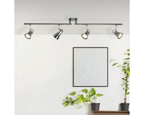 Plafonnier LED Jupp 4 ampoules 3W. chrome-noir-0