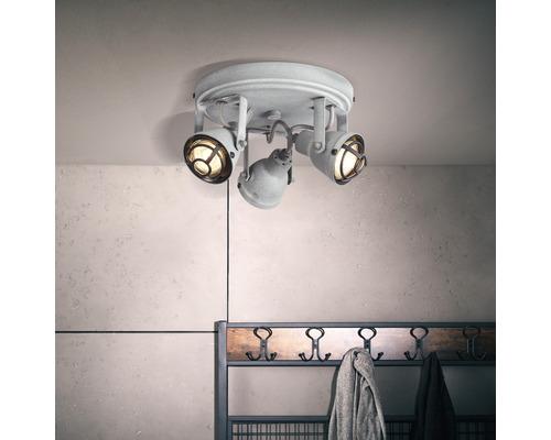 Spot à LED Bente gris avec 3 ampoules 3x350lm 3000K blanc chaud Ø 215mm