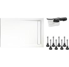 Duschwannenset Schulte ExpressPlus 90x120x2,5 cm EP202912 04 44 inkl. Wannenfüße und Ablaufgarnitur-thumb-1