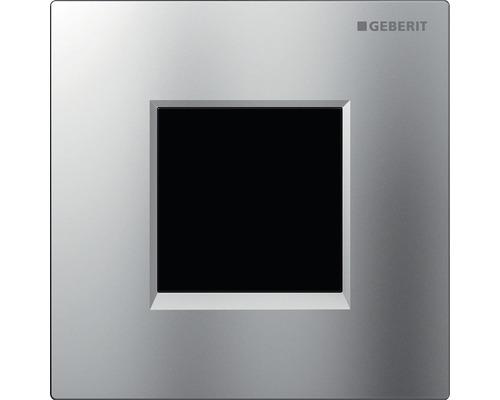 Commande d''urinoir GEBERIT type 30 avec actionnement électronique de chasse d''eau fonctionnement sur secteur chrome mat/chromé haute brillance 116.027.KN.1
