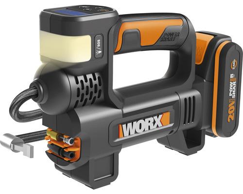 Compresseur sans fil et projecteur Worx 20V WX092, avec chargeur et batterie