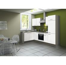 Cuisine complète Optifit Torger largeur 270 cm couleur de façade blanc couleur de corps blanc avec électroménager KCTO 21611DE-8+-thumb-0