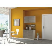 Mini-cuisine Optifit Vigo largeur 100 cm couleur de façade blanc brillant couleur de corps pin fantaisie nougat couleur de corps champagne avec appareils électriques-thumb-0