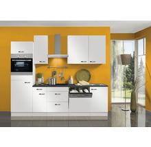 Cuisine complète Optifit Lagos largeur 270 cm couleur de façade blanc brillant couleur de corps blanc avec électroménager KPLG 2764DEC-9+-thumb-0