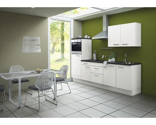 Cuisine complète Optifit Bengt largeur 270 cm couleur de façade blanc, couleur de corps blanc avec électroménager KCBE 2751DE-8+-0