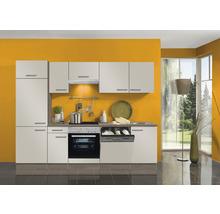 Cuisine complète Optifit Arta largeur 270 cm couleur de façade beige Sahara, couleur du corps imitation chêne truffe brut avec électroménager KPAT 2702WDE-9+-thumb-0