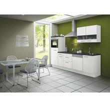 Cuisine complète Optifit Bengt largeur 270 cm couleur de façade blanc, couleur de corps blanc avec électroménager KCBE 2746DE-8+-thumb-0