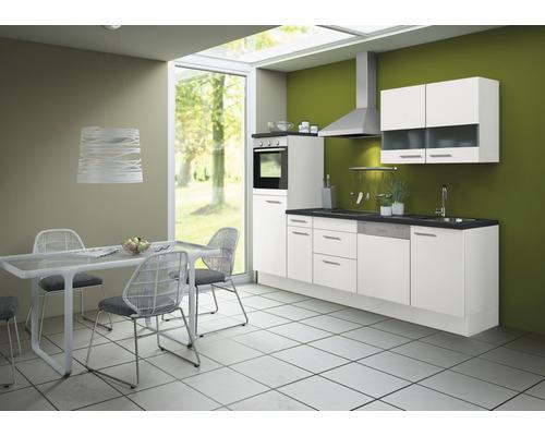 Cuisine complète Optifit Bengt largeur 270 cm couleur de façade blanc, couleur de corps blanc avec électroménager KCBE 2746DE-8+-0