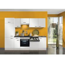 Cuisine complète Optifit Lagos largeur 270 cm couleur de façade blanc brillant couleur de corps blanc avec électroménager KPLG 2702WDE-9+-thumb-0