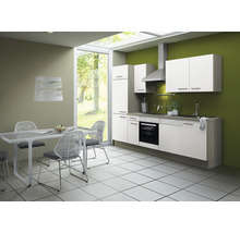 Cuisine complète Optifit Torger largeur 270 cm couleur de façade blanc couleur de corps blanc avec électroménager KCTO 2702DE-8+-thumb-0