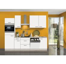 Cuisine complète Optifit Genf largeur 270 cm couleur de façade blanc couleur de corps Décor acacia avec électroménager KPGF 2764DEC-9+-thumb-0