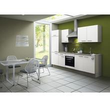 Cuisine complète Optifit Torger largeur 270 cm couleur de façade blanc couleur de corps blanc avec électroménager KCTO 2711DE-8+-thumb-0