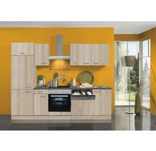 Cuisine complète Optifit Elba largeur 270 cm couleur de façade imitation hêtre noble couleur de corps imitation hêtre noble avec électroménager KPEL 2702DE-9+-thumb-0