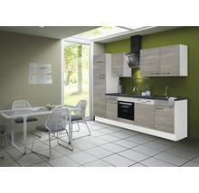 Cuisine complète Optifit Tove256 largeur 280 cm couleur de façade pin fantaisie nougat couleur de corps blanc avec électroménager KRTO 2822EC-3+-thumb-0