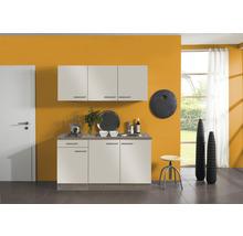 Kitchenette Optifit Arta largeur 150 cm couleur de façade beige Sahara couleur du corps imitation chêne truffe brut avec électroménager KPAT 1532D-9+-thumb-0