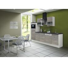 Cuisine complète Optifit Tove256 largeur 280 cm couleur de façade pin fantaisie nougat couleur de corps blanc avec électroménager KRTO 2866EC-3+-thumb-0