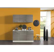 Kitchenette Optifit Vigo largeur 150 cm couleur de façade pin fantaisie couleur de corps pin fantaisie nougat couleur de corps champagne avec électroménager KPVG 1532D-9+-thumb-0