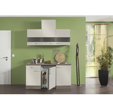 Kitchenette Optifit Arta largeur 150 cm couleur de façade beige Sahara couleur du corps imitation chêne truffe brut avec électroménager KPAT 1504D-9+-thumb-0