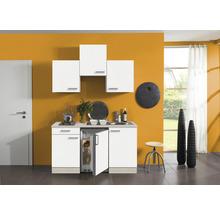 Kitchenette Optifit Genf largeur 150 cm couleur de façade blanc couleur de corps, décor acacia avec électroménager KPGF 1500D-9+-thumb-0