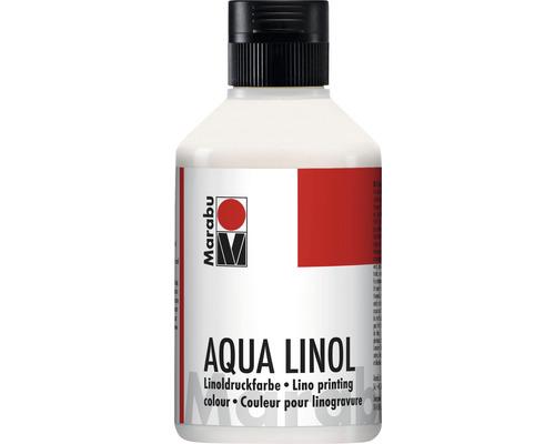 Peinture pour linogravure Marabu à base d''eau bleu vert 097 250ml
