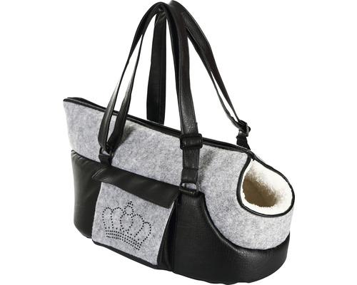 Sac de transport Chiara 46 x 23 x 25 cm gris et noir