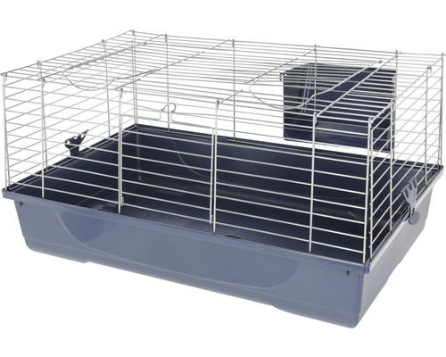 Cage pour rongeurs Gabbia Baldo avec rack à foin 80 80 x 45 x 42 cm bleu-argent