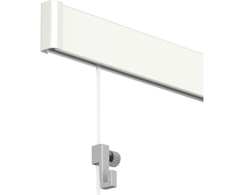 Système de suspension All-In-One Click Rail 2 m, blanc