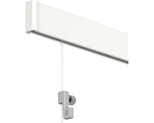 Système de suspension Click Rail tout en un, 4 m, blanc