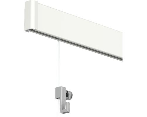 Système de suspension Click Rail tout en un, 6 m, blanc