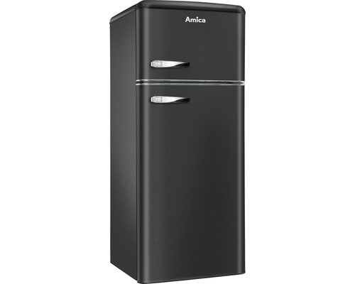 Réfrigérateur-congélateur Amica KGC 15637 MS lxhxp 55 x 144 x 61.5 cm compartiment de réfrigération 162 l compartiment de congélation 44 l