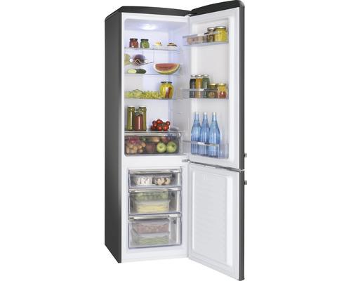 Réfrigérateur-congélateur Amica DT 374 160 S lxhxp 55 x 181 x 61.5 cm compartiment de réfrigération 181 l compartiment de congélation 63 l