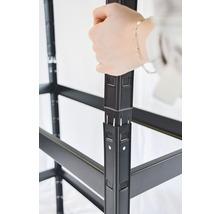 Schwerlast Steckregal Schulte schwarz strukturiert 1800x1000x350 mm 4 Böden Tragkraft 360 kg-thumb-3