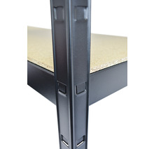 Schwerlast Steckregal Schulte schwarz strukturiert 1800x1000x350 mm 4 Böden Tragkraft 360 kg-thumb-5