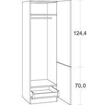 Armoire haute Optifit Salo largeur 60 cm HWSA HGI606-7+ blanc-thumb-2