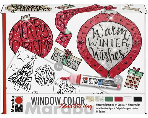 Kit Marabu Window Color Handlettering Xmas 6x25ml