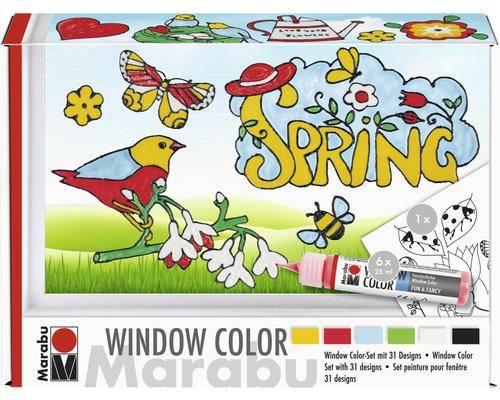 Kit Marabu Window Color Spring-Time 6x25 ml