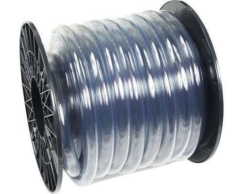"""Tuyau d'arrosage clair PVC souple sans tissu 19mm 3/4"""", au mètre"""