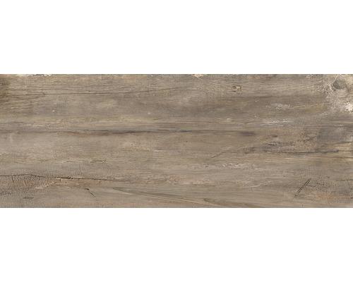 Dalle de terrasse en grès cérame fin Dakota Marrone 40 x 120 x 2 cm rectifiée