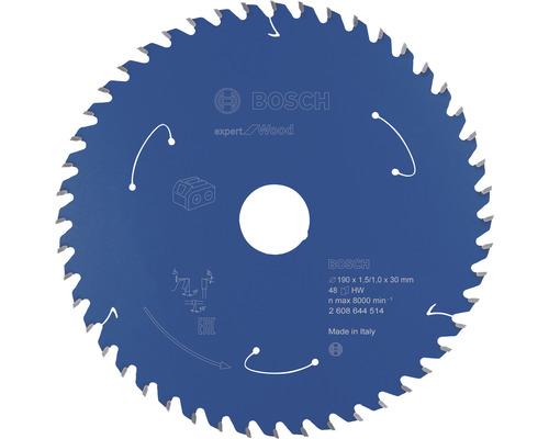 Lame de scie circulaire Bosch Professional Expert Wood 190x30 mm Z48