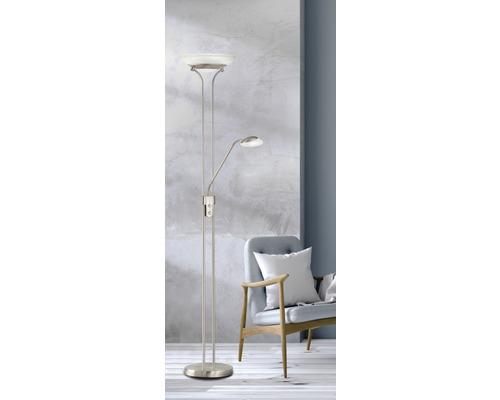 Lampadaire LED métal/ verre CCT + à intensité lumineuse variable 28/5W 2900/530 lm 2700/3350/4000 K blanc chaud blanc neutre hxØ 1,82 m Pool TW couleur nickel mat
