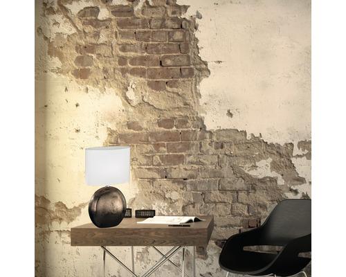 Lampe de table céramique/ textile 1 ampoule hxLxl 530x340x170 mm Foro couleur cuivre abat-jour blanc avec cordon avec interrupteur