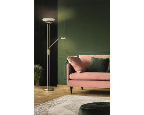 Lampadaire LED métal/ verre CCT + à intensité lumineuse variable 28/5W 2900/530 lm 2700/3350/4000 K blanc chaud/blanc neutre hxØ 1,82 m Pool TW couleur laiton mat