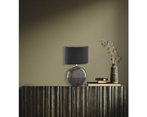 Lampe de table céramique/ textile 1 ampoule hxLxl 530x340x170 mm Marine vert noir abat-jour noir avec cordon avec interrupteur