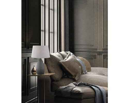 Lampe de table céramique/ tissu 1 ampoule hxØ 430x250 mm Ames noir/gris avec cordon avec interrupteur