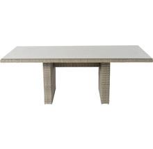 Gartenmöbelset Garden Place Dining 6-Sitzer 7 tlg. inkl. Tisch 200 x 100 x 76 cm mit 5mm Glasplatte, 6 Sesseln davon 2 verstellbar und Sitzkissen Polyrattan braun anthrazit-thumb-11