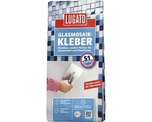 Colle pour mosaïque de verre Lugato 5kg