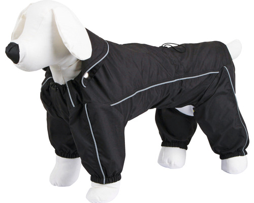Manteau pour la pluie pour chien Manchester taille XXL 60 cm noir