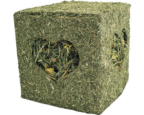 Cube de foin JR FARM grand avec fleurs 450 g