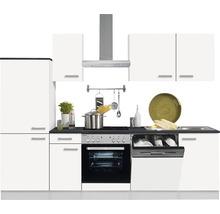 Cuisine complète Optifit Oslo214 largeur 270 cm couleur de façade blanc, couleur de corps blanc avec électroménager KPOS 2742DE-9+-thumb-0