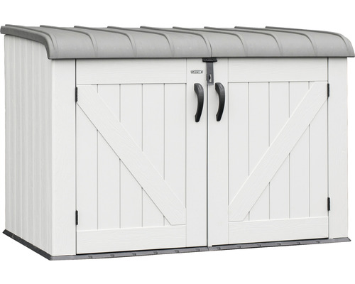 Boîte à outils/Cache-poubelle Lifetime 192x108x132 cm, gris clair